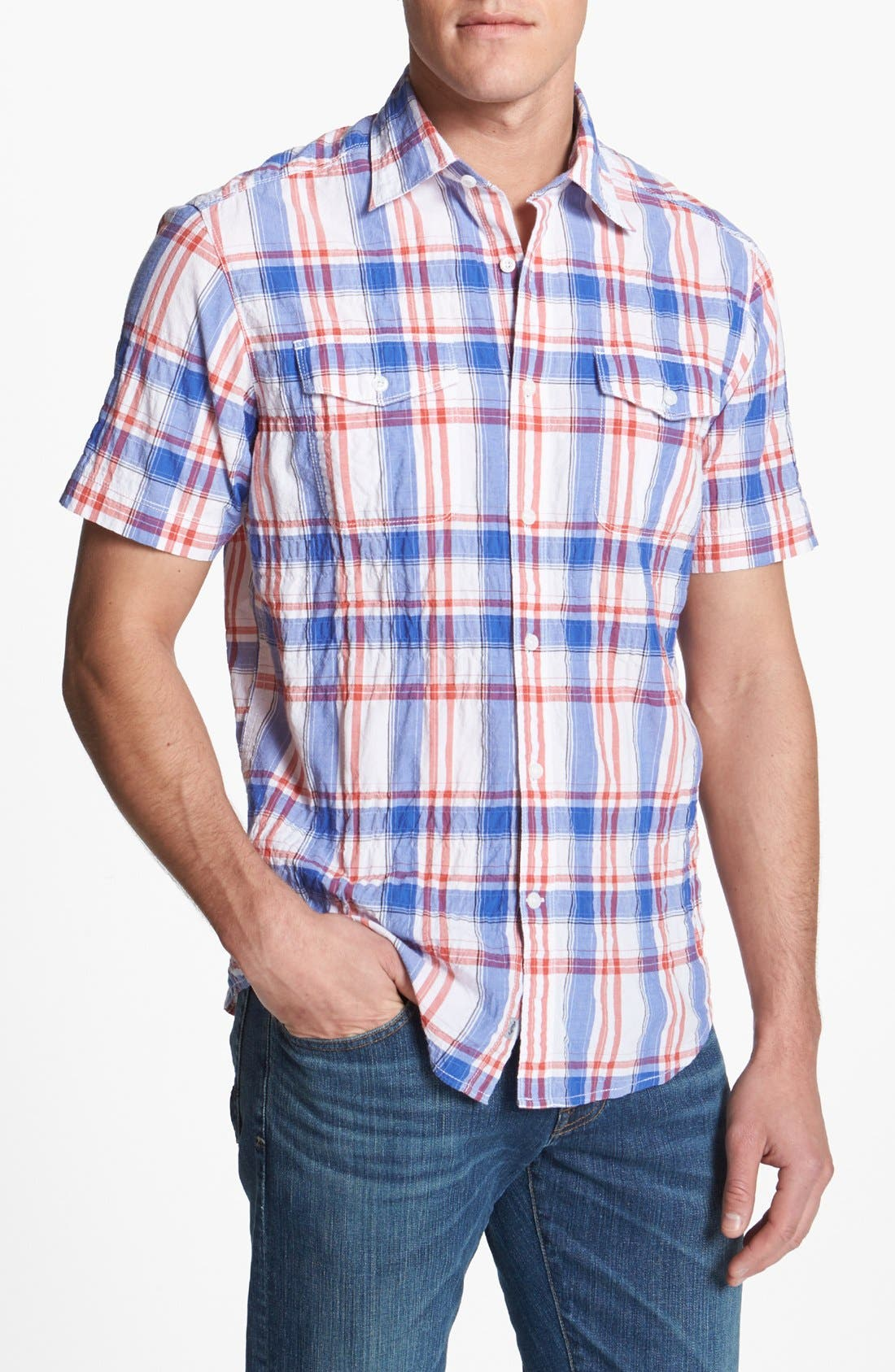 Main Image - James Campbell Short Sleeve Sport Shirt