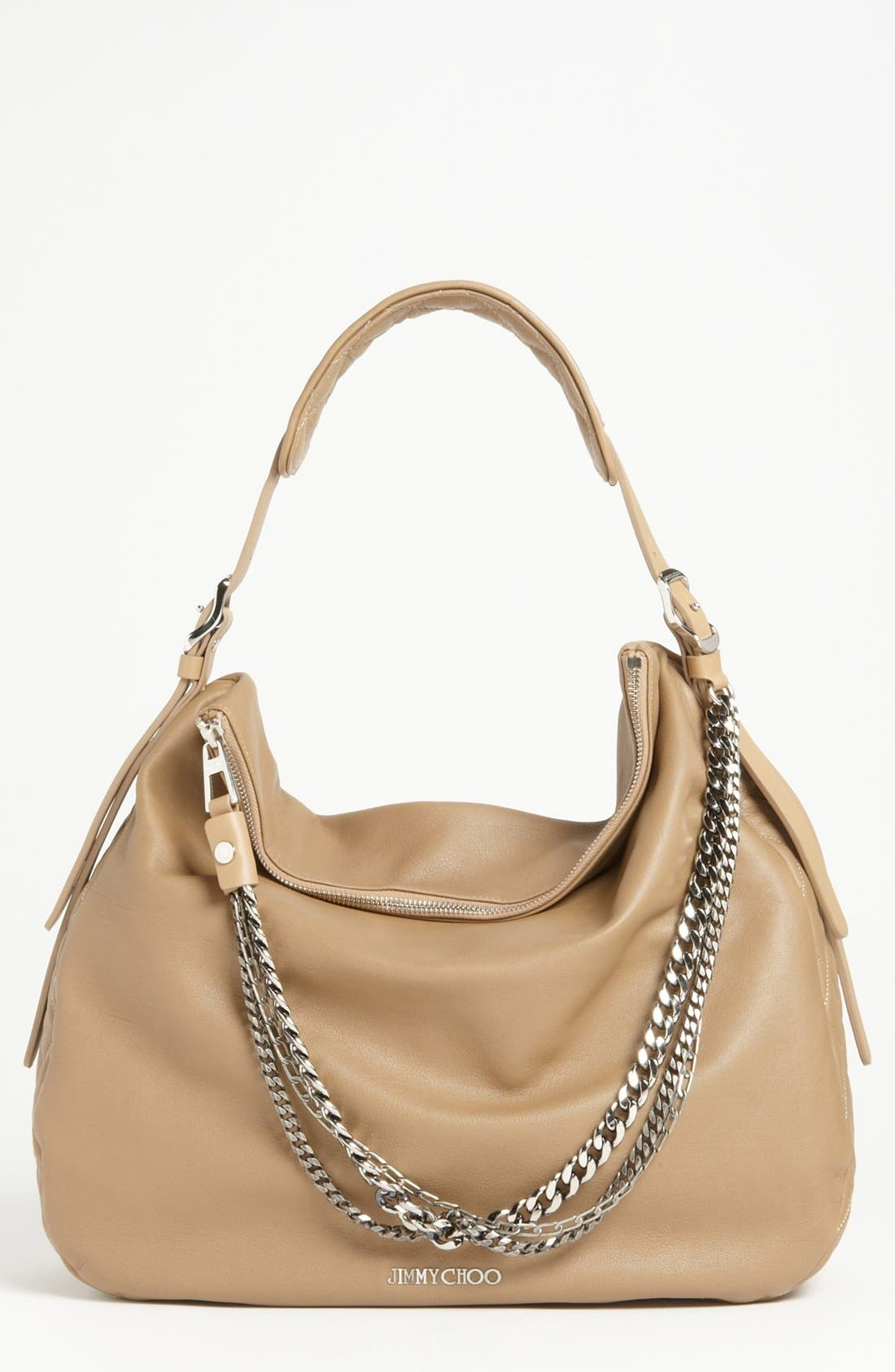 Main Image - Jimmy Choo 'Large Boho' Leather Hobo