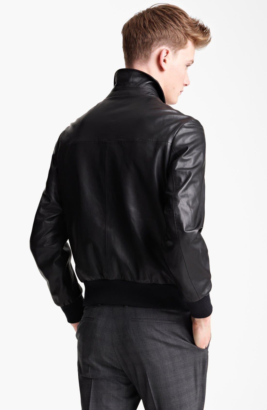 Alternate Image 2  - PS Paul Smith Leather Jacket