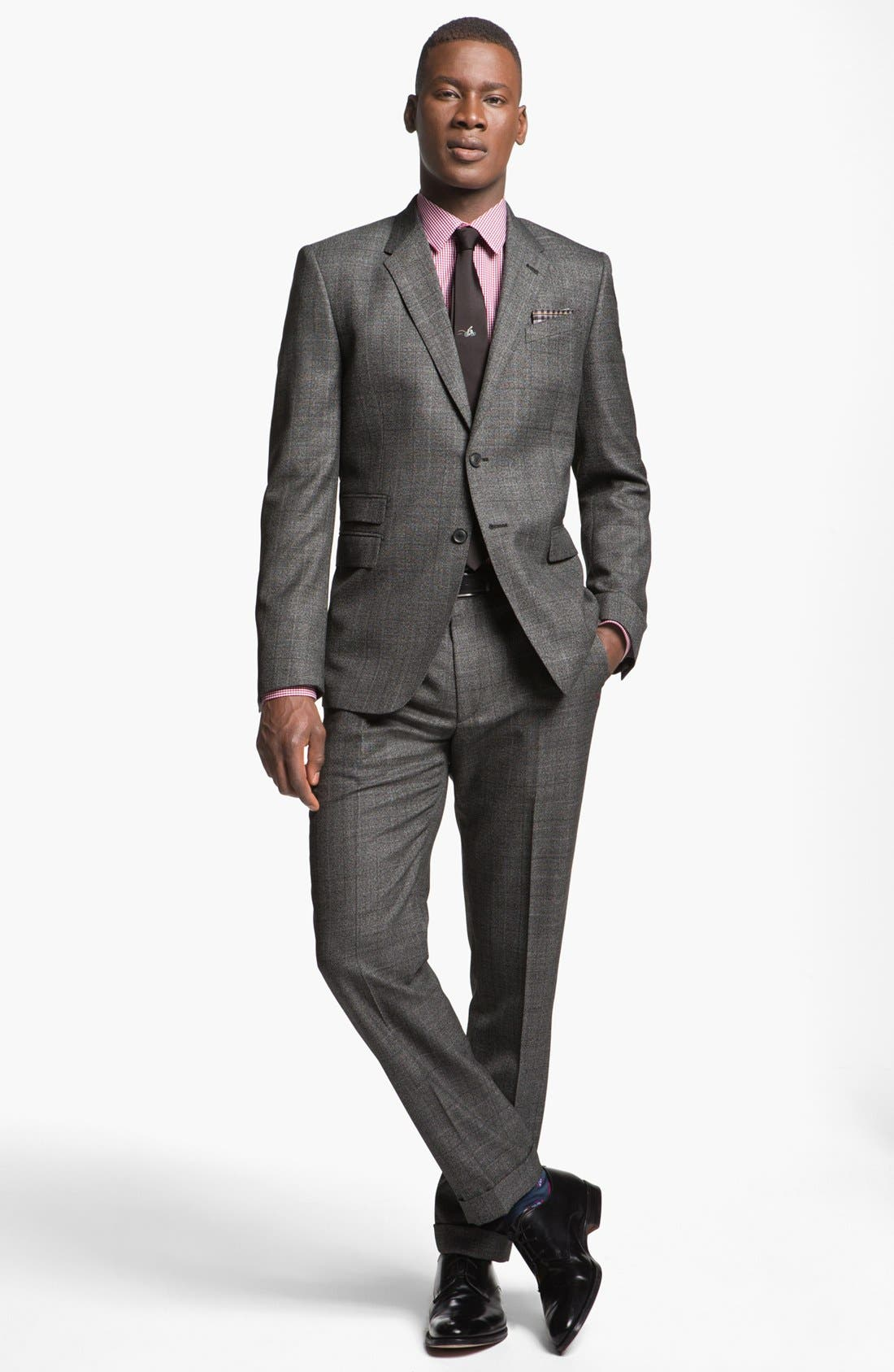 Main Image - Paul Smith London Slim Fit Plaid Wool Suit