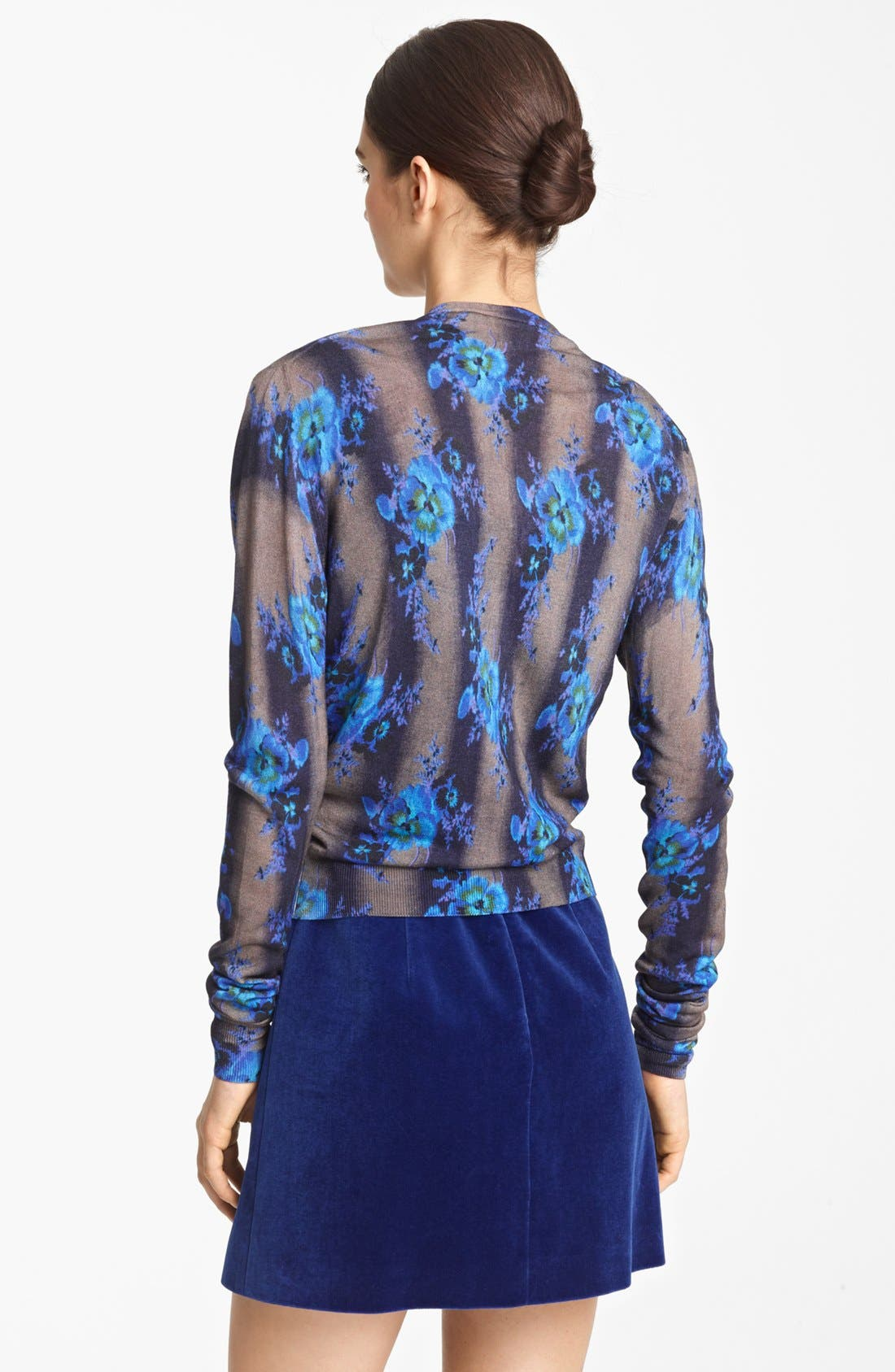 Alternate Image 2  - Christopher Kane Print Silk Cardigan