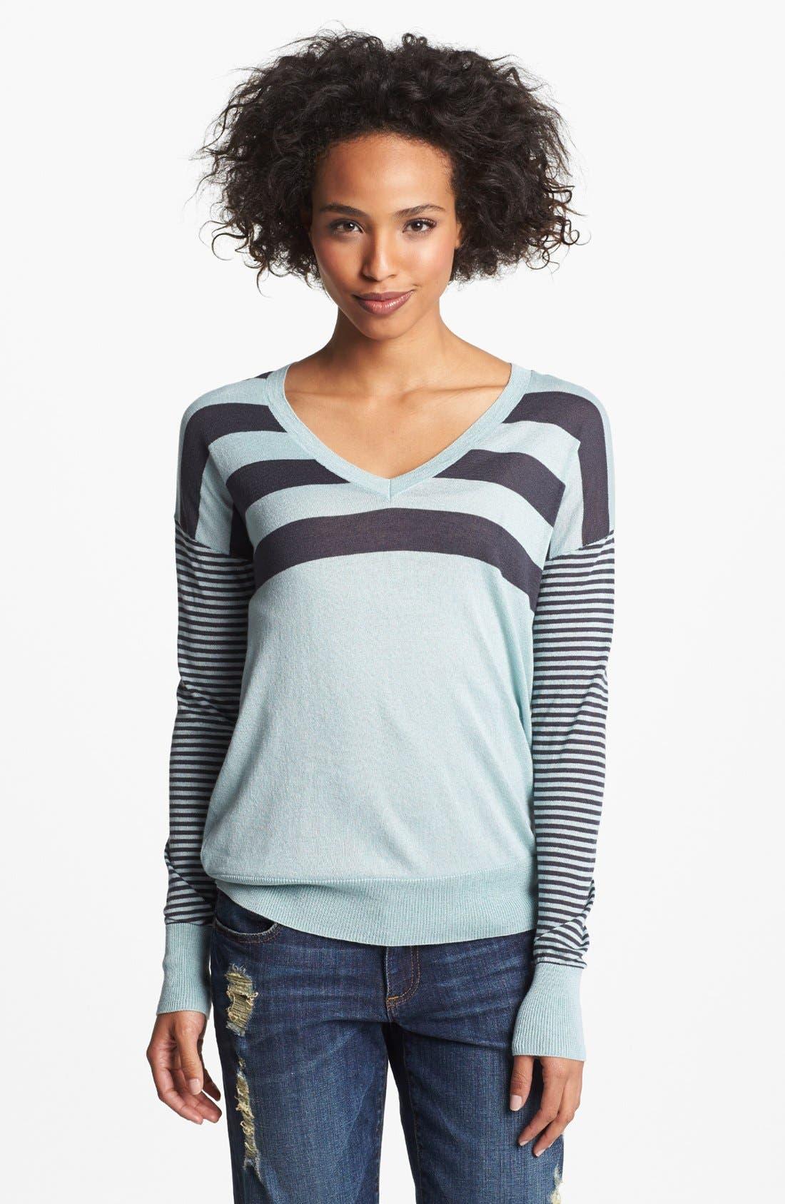 Alternate Image 1 Selected - Halogen® Drop Shoulder V-Neck Sweater