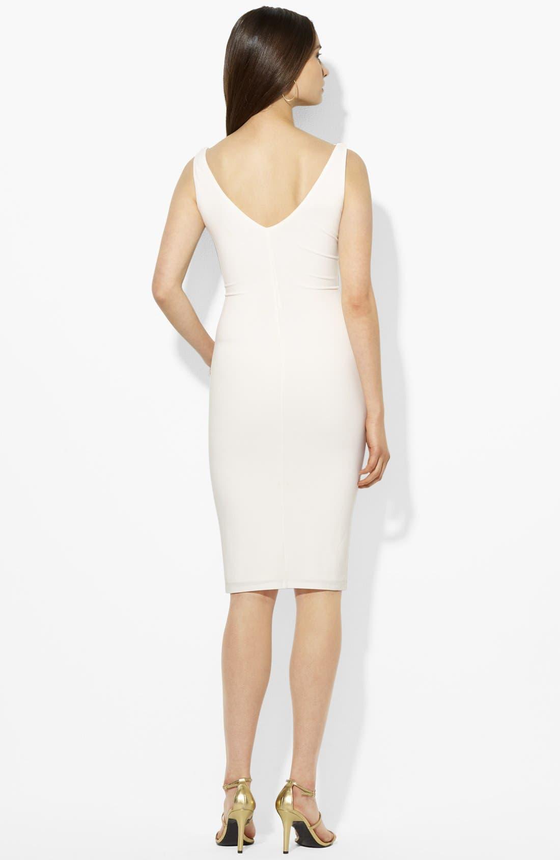 Alternate Image 2  - Lauren Ralph Lauren Ruffled Matte Jersey Dress
