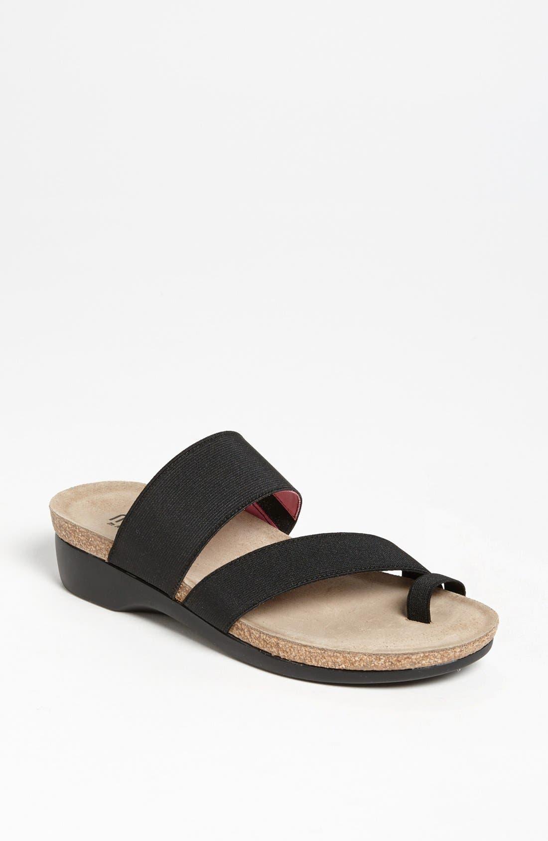 'Aries' Sandal,                             Main thumbnail 1, color,                             Black