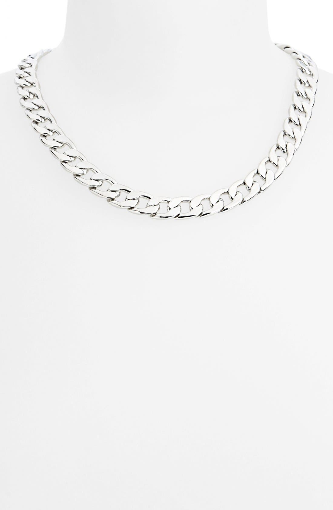 Alternate Image 1 Selected - Topshop 'Flat' Chain Necklace
