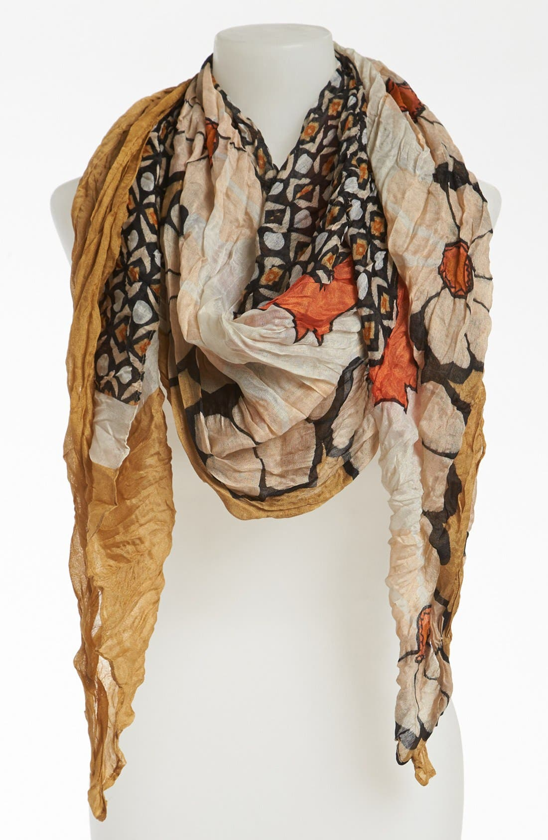 Alternate Image 1 Selected - Tasha Retro Floral Crinkle Scarf