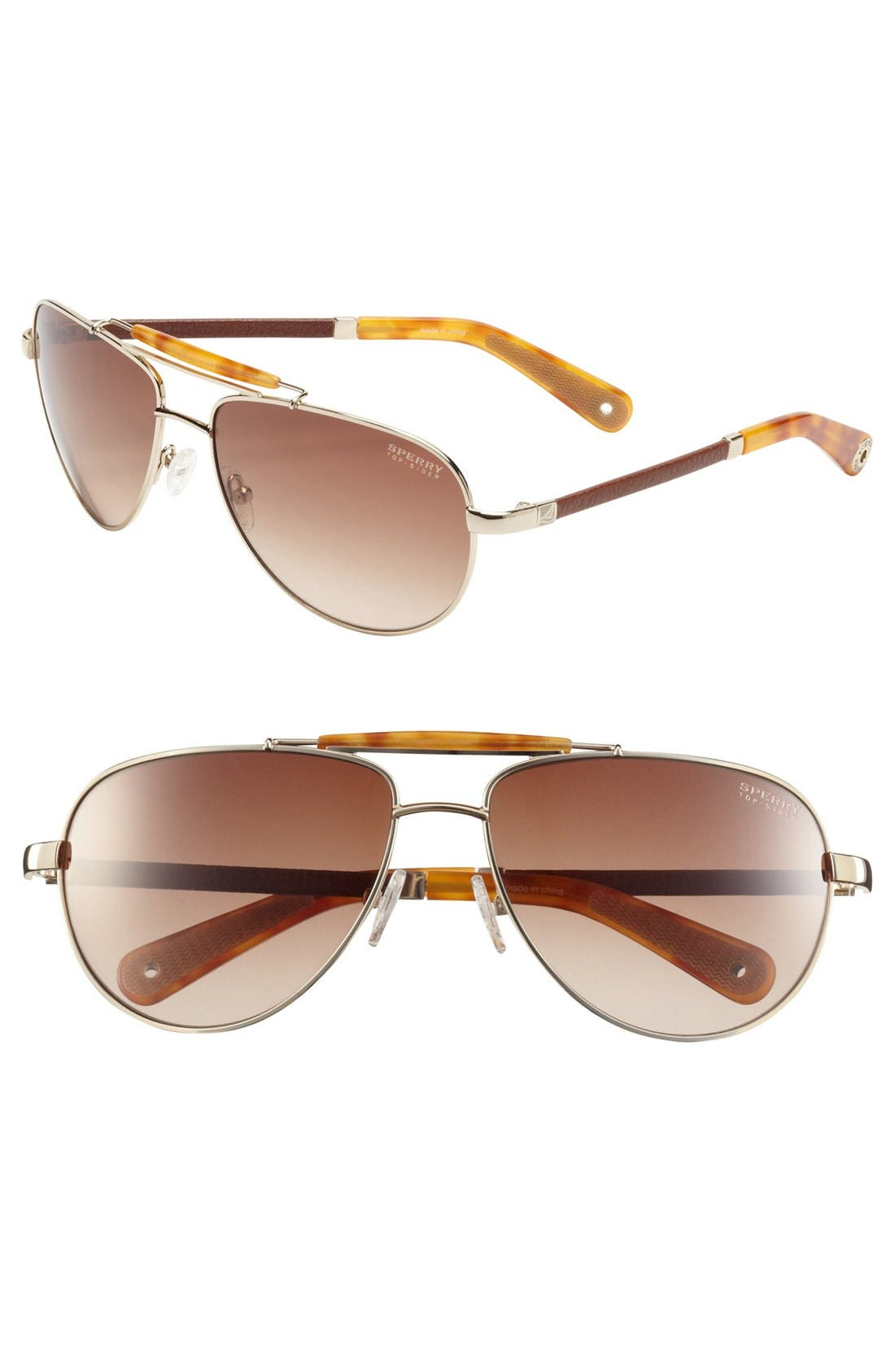 Main Image - Sperry Top-Sider® 'Vineyard Haven' 60mm Aviator Sunglasses (Online Only)