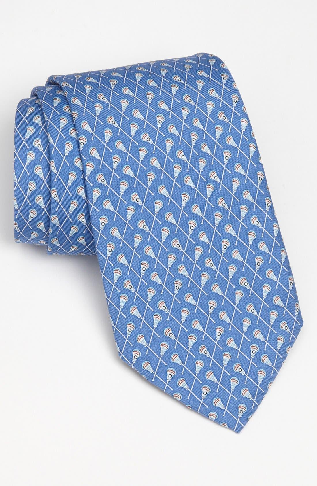 Lacrosse Silk Tie,                         Main,                         color, Royal Blue