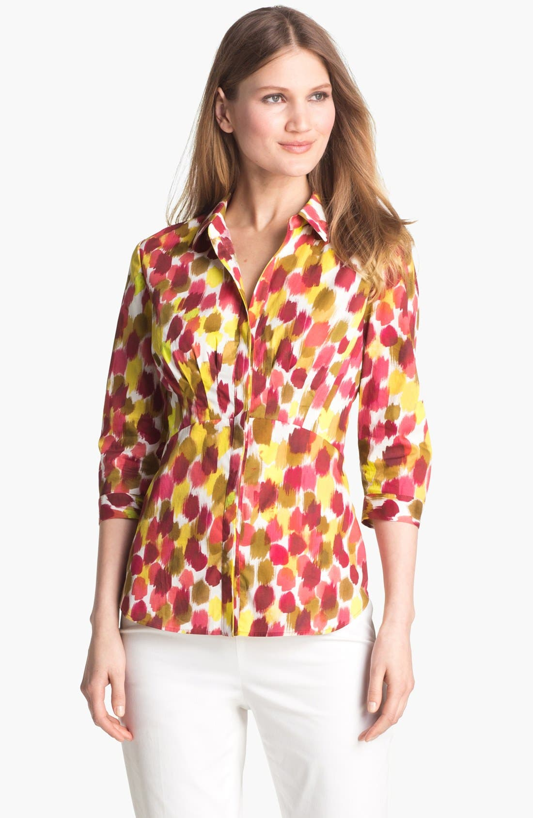 Main Image - Lafayette 148 New York 'Sabrina - Malay' Print Blouse