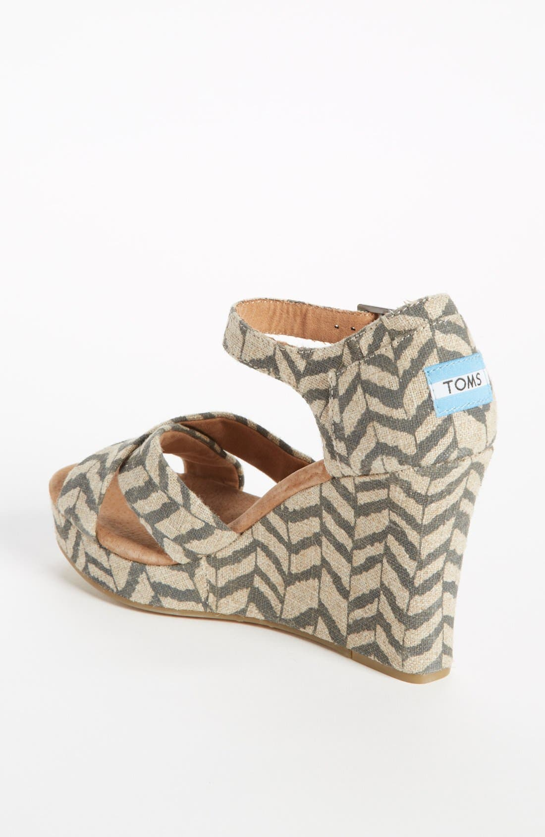 Alternate Image 2  - TOMS 'Classic - Zebra Zag' Wedge