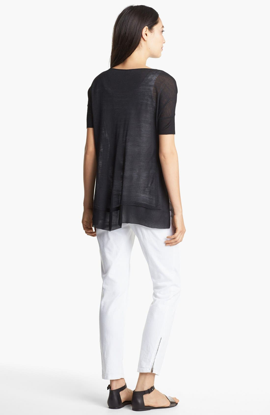 Alternate Image 4  - Eileen Fisher V-Neck Boxy Top