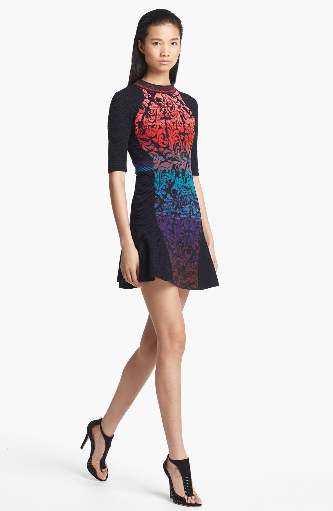 Alternate Image 1 Selected - M Missoni Brocade Intarsia Knit Dress