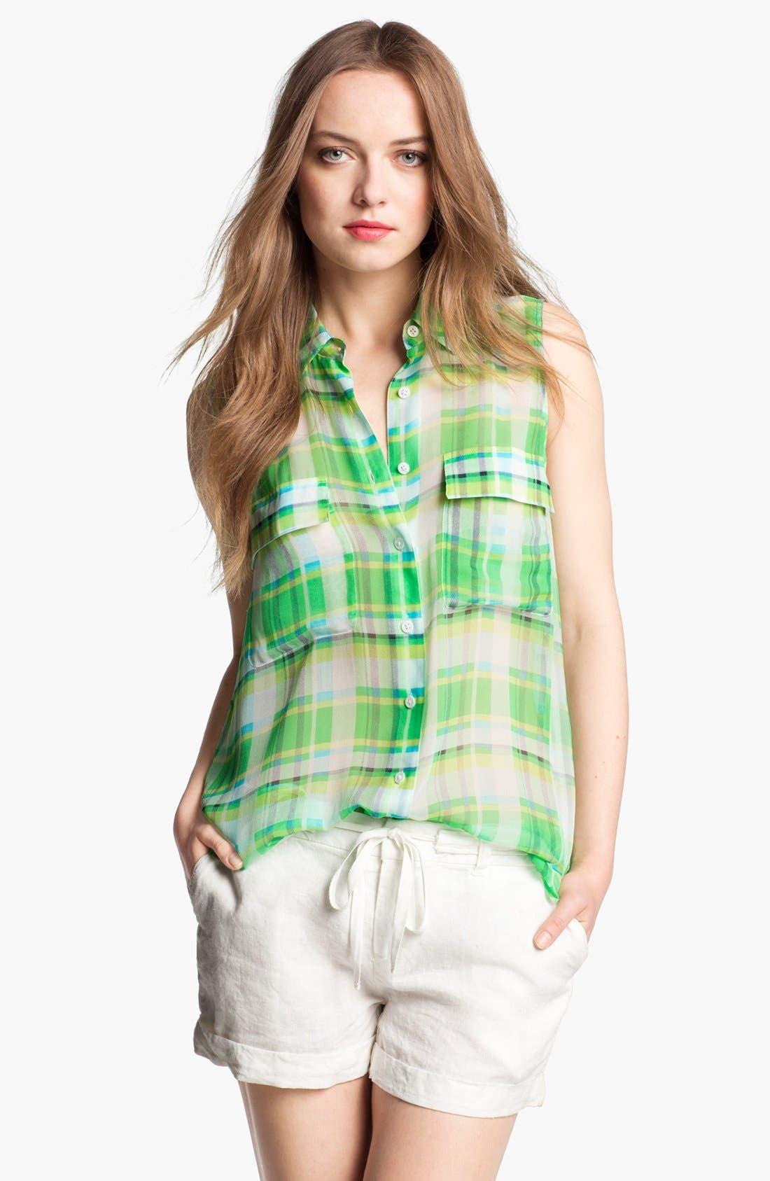 Alternate Image 1 Selected - Equipment 'Signature' Sleeveless Silk Shirt