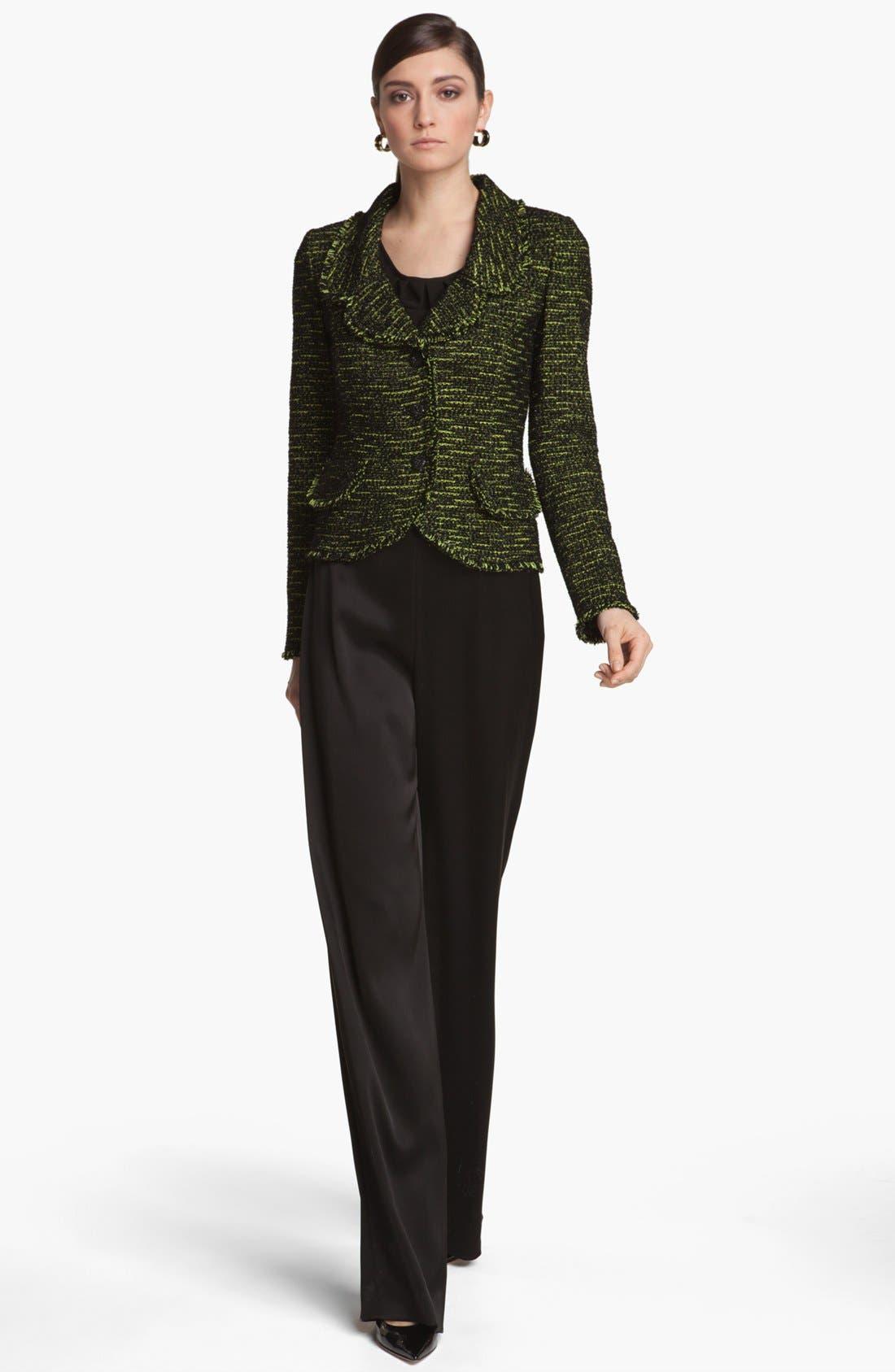 Alternate Image 2  - St. John Collection Fringe Tweed Jacket
