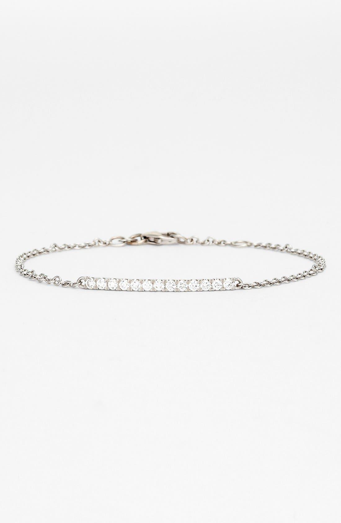 Alternate Image 1 Selected - Bony Levy 'Stick' Pavé Diamond Bar Bracelet (Nordstrom Exclusive)