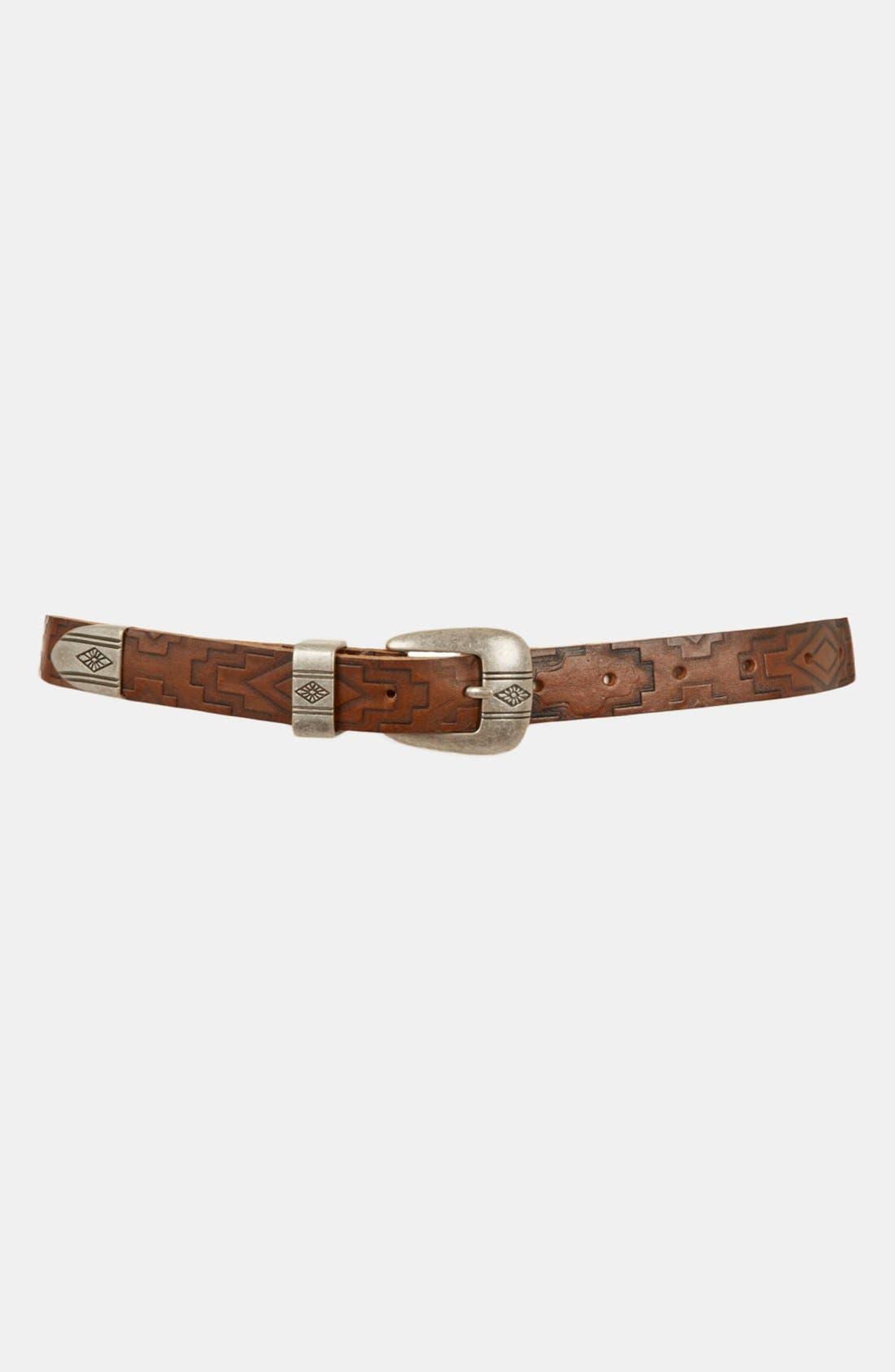 Alternate Image 1 Selected - Topshop 'Aztec' Embossed Leather Belt