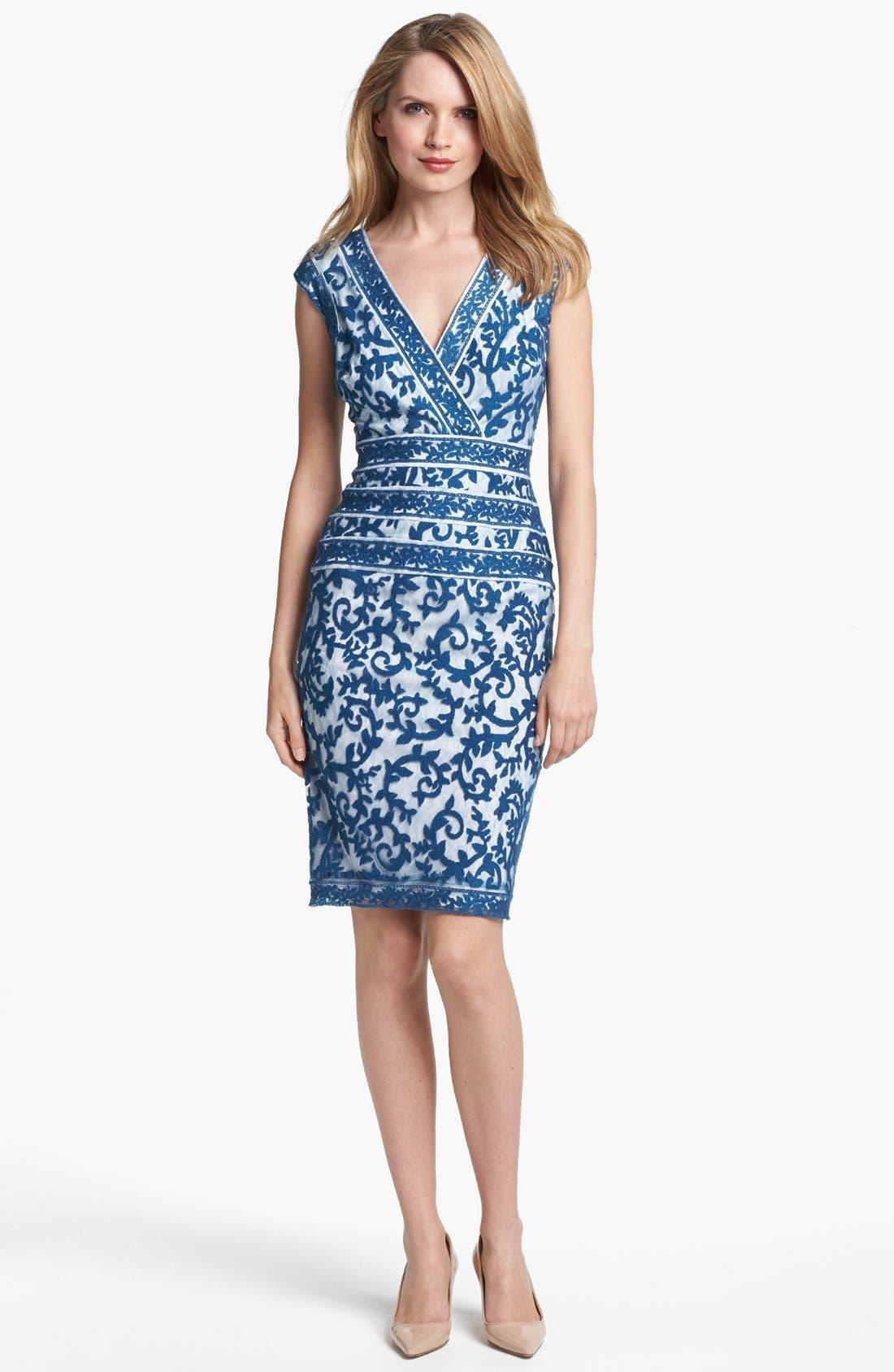 Alternate Image 1 Selected - Tadashi Shoji Embroidered Dress