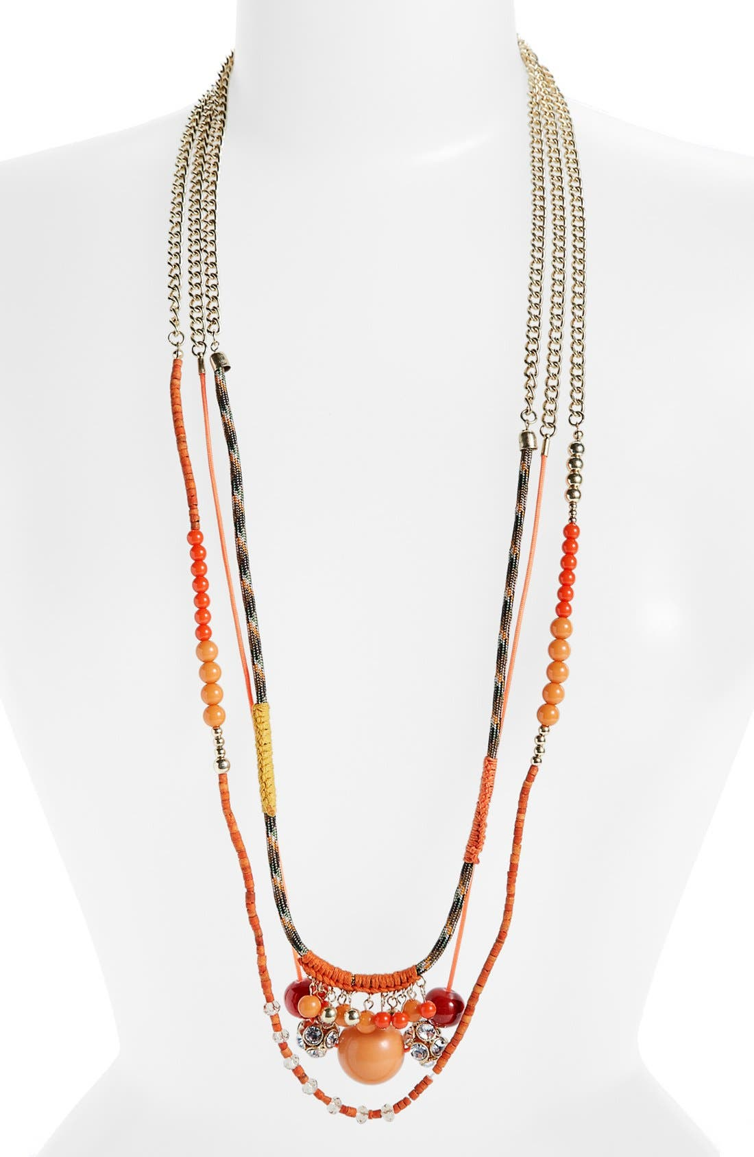 Alternate Image 2  - Lydell NYC Mixed Media Multistrand Necklace