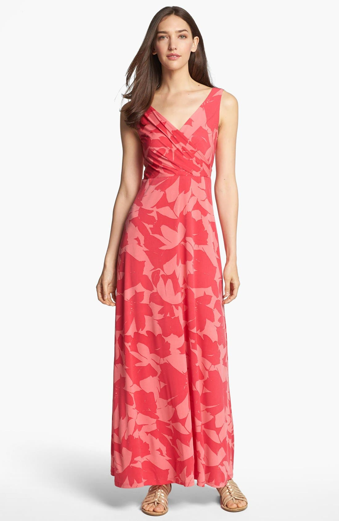 Main Image - Isaac Mizrahi New York Print Jersey Maxi Dress