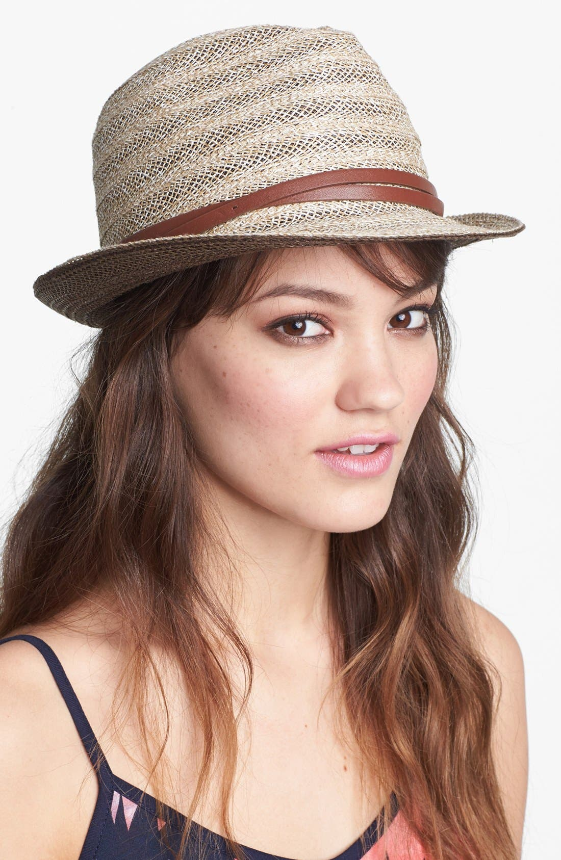 Main Image - Nordstrom Belted Straw Fedora