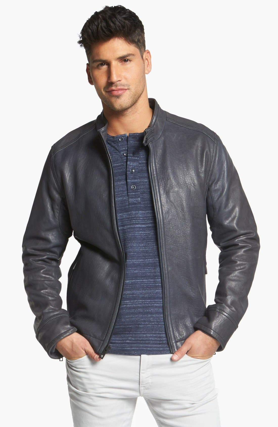 Main Image - Andrew Marc 'Forest' Leather Moto Jacket