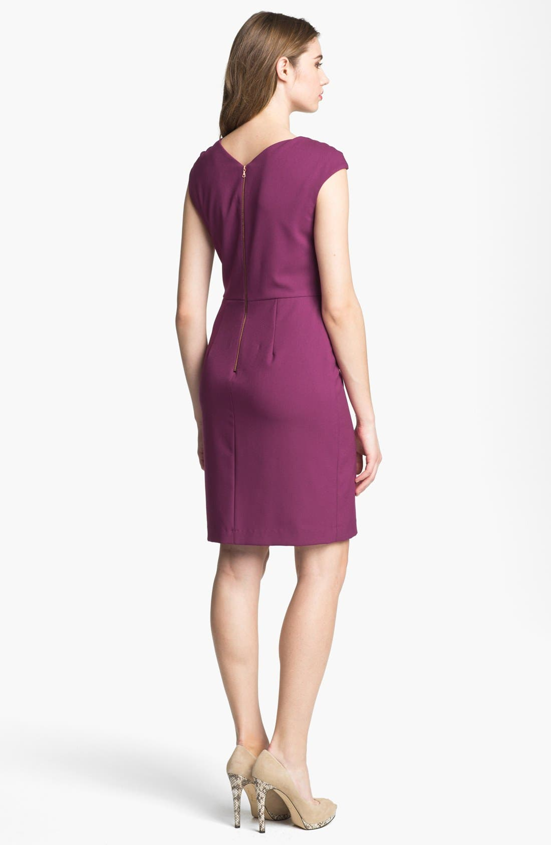 Alternate Image 2  - Ivy & Blu Cap Sleeve Sheath Dress