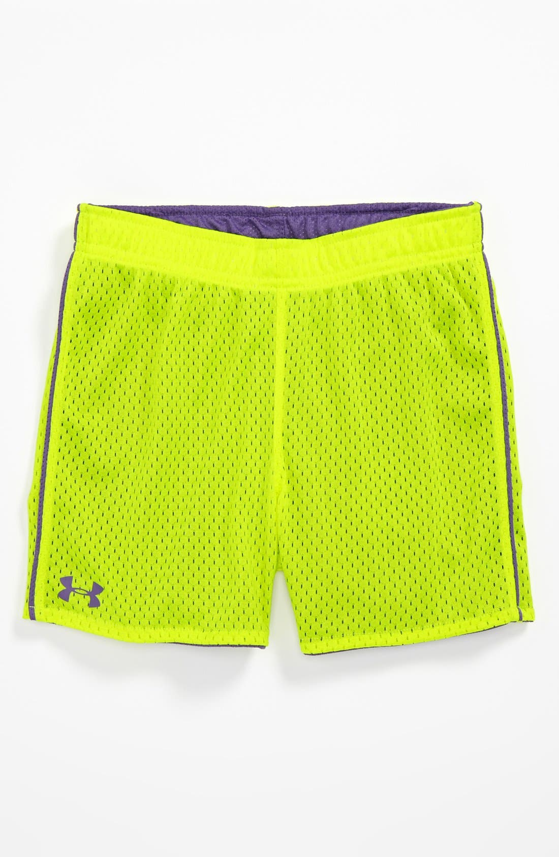Alternate Image 1 Selected - Under Armour Reversible Shorts (Little Girls)