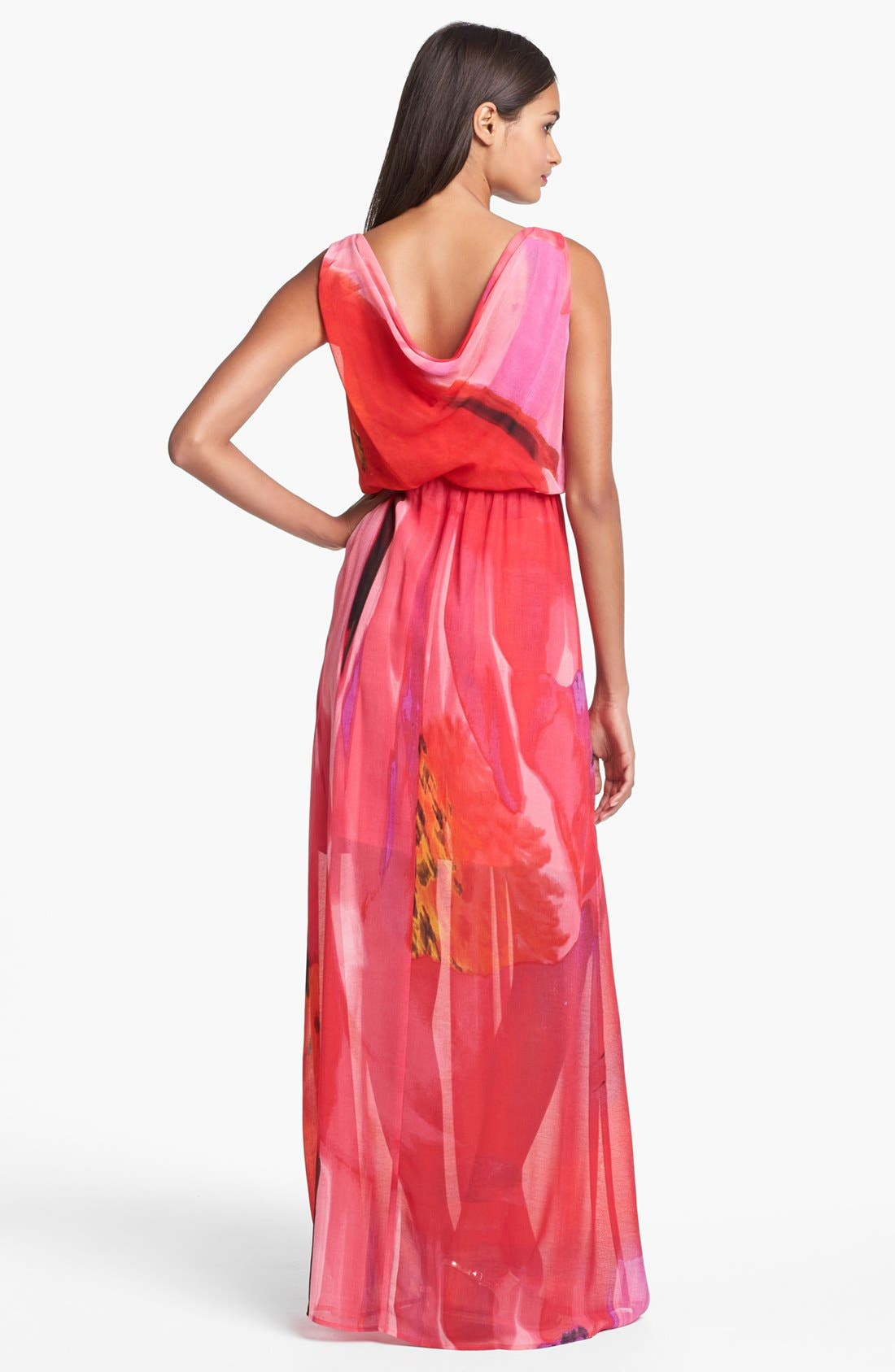 Alternate Image 2  - Vince Camuto Blouson Print Chiffon Maxi Dress