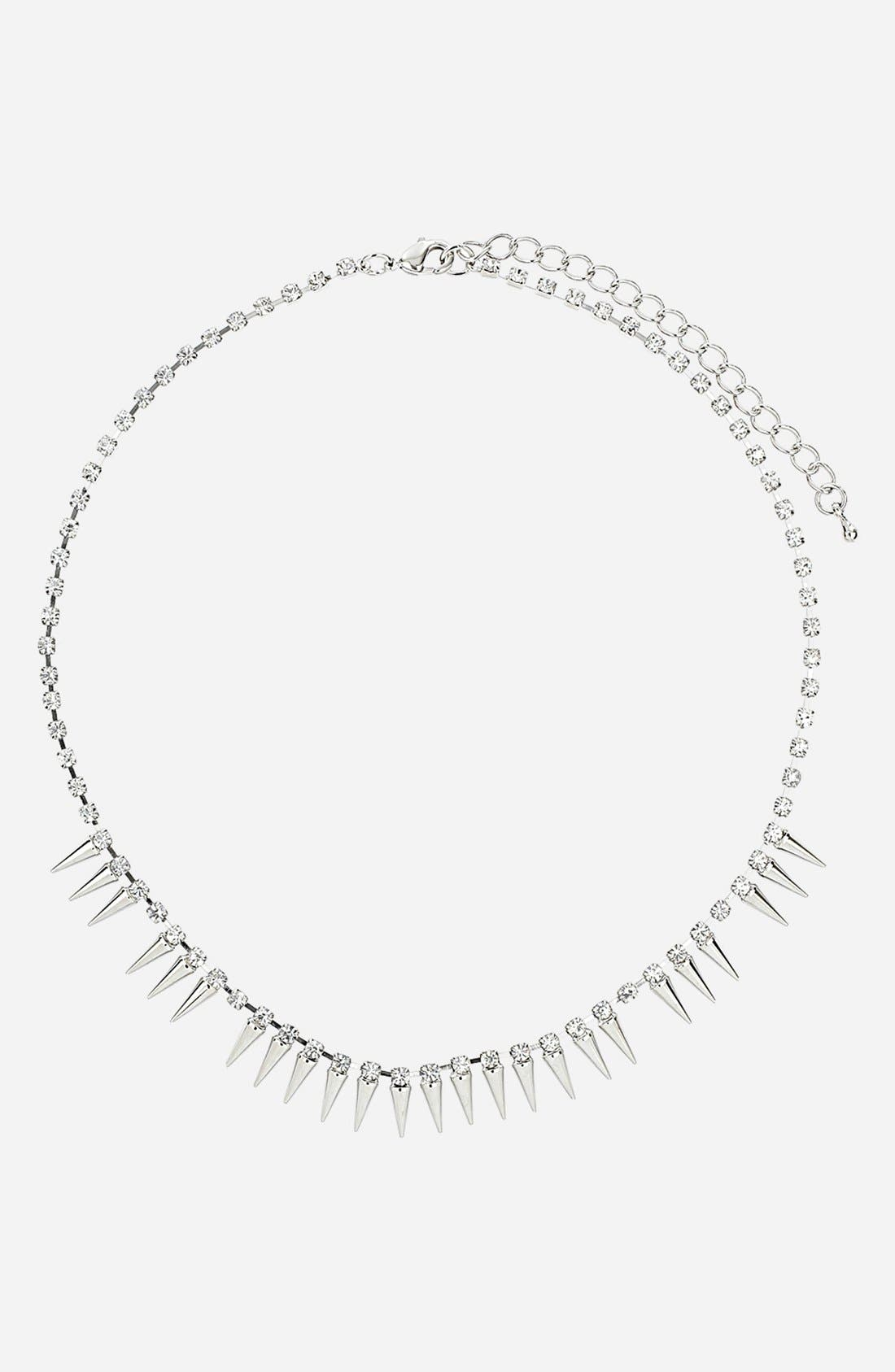 Main Image - Topshop Rhinestone Chain Necklace