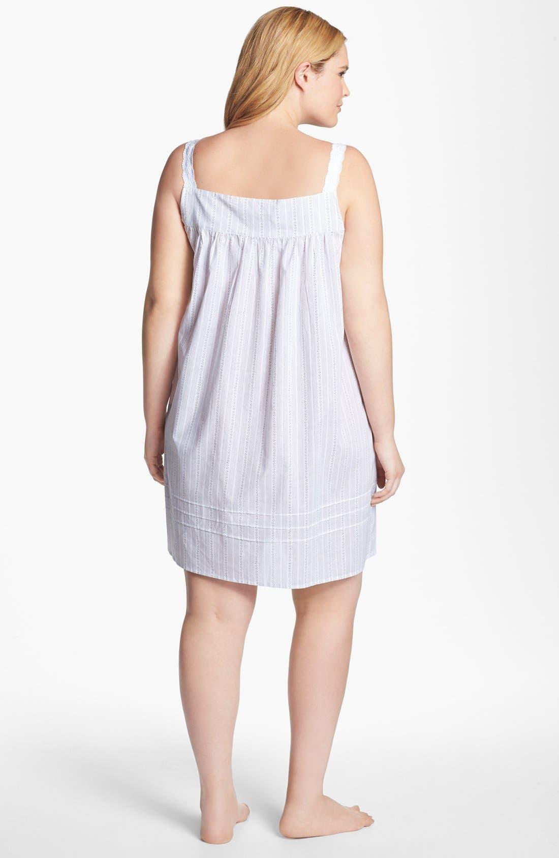 Alternate Image 4  - Eileen West 'Moonlit Shores' Short Nightgown (Plus Size)