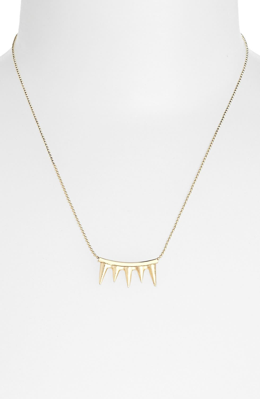 Alternate Image 1 Selected - Topshop 'Spike Teeth Ditsy' Necklace