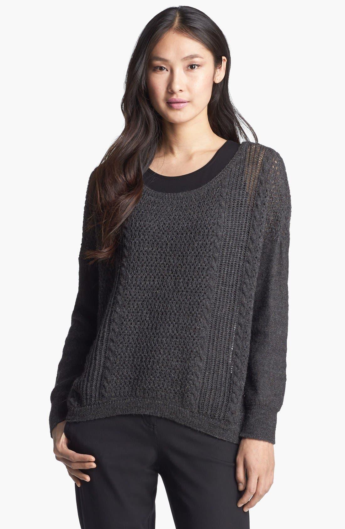 Alternate Image 1 Selected - Eileen Fisher Alpaca & Merino Sweater