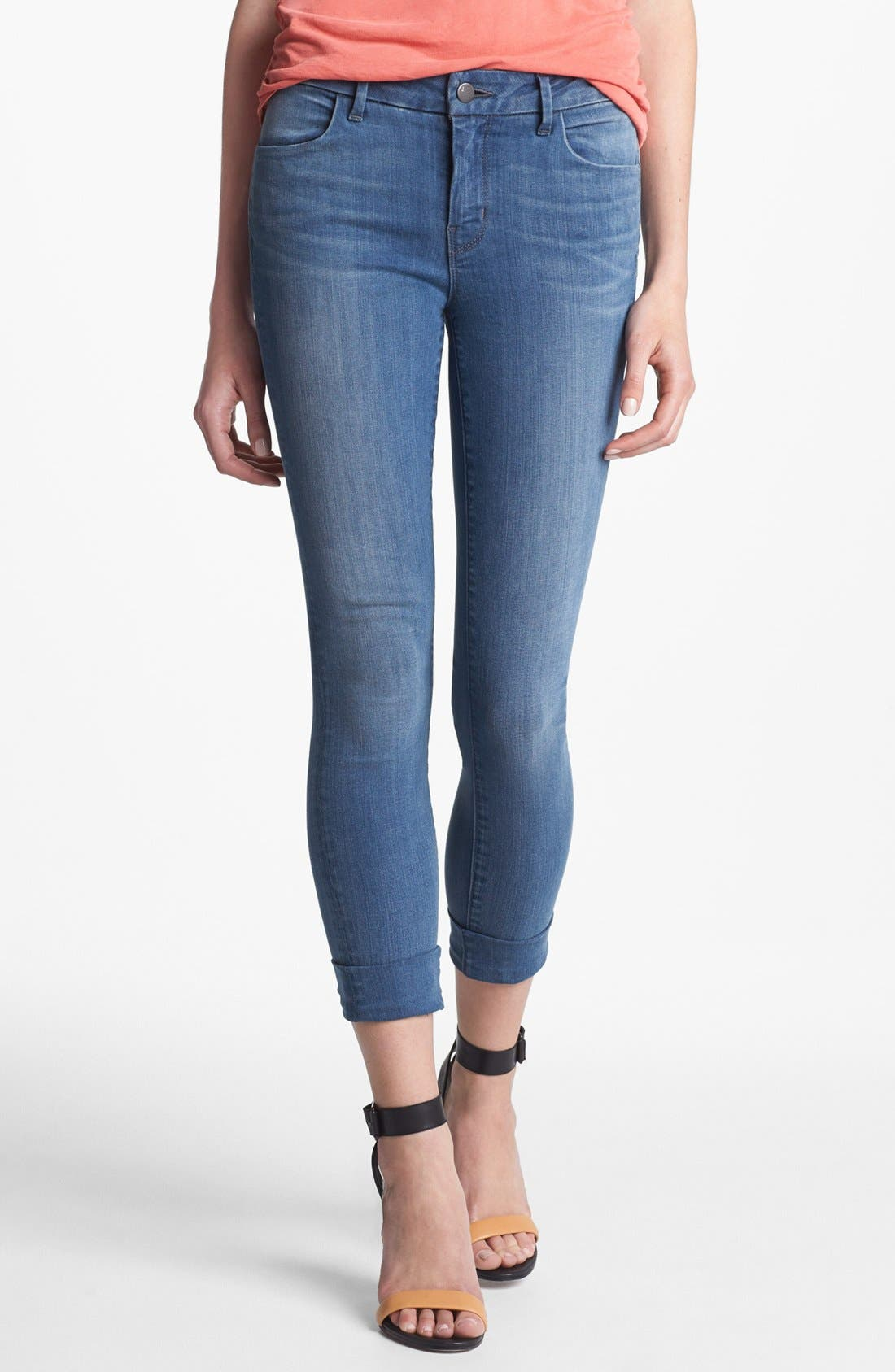 Alternate Image 1 Selected - J Brand 'Anja' Cuff Crop Jeans (Stockholm)