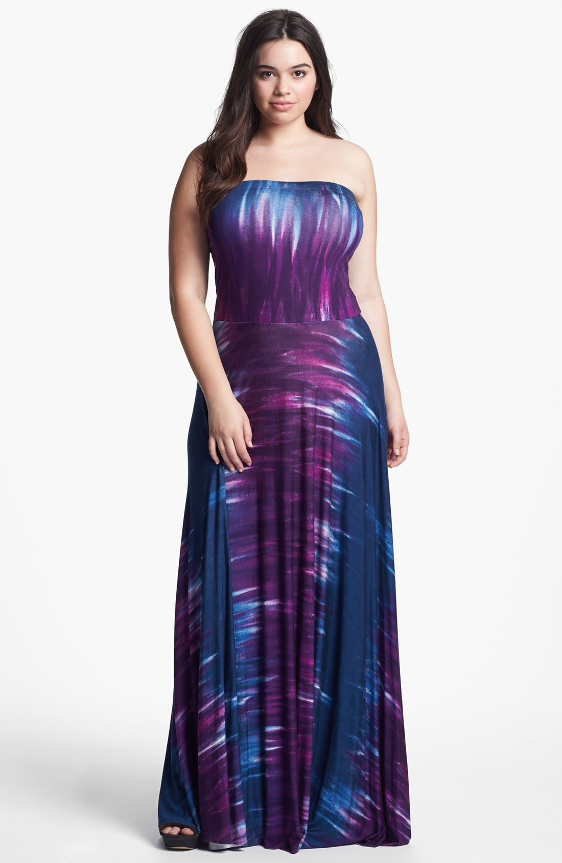 Main Image - Felicity & Coco Strapless Jersey Maxi Dress (Plus Size) (Nordstrom Exclusive)
