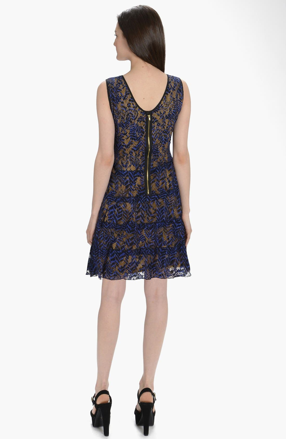 Alternate Image 2  - LABEL by five twelve Tiered Lace Fit & Flare Dress