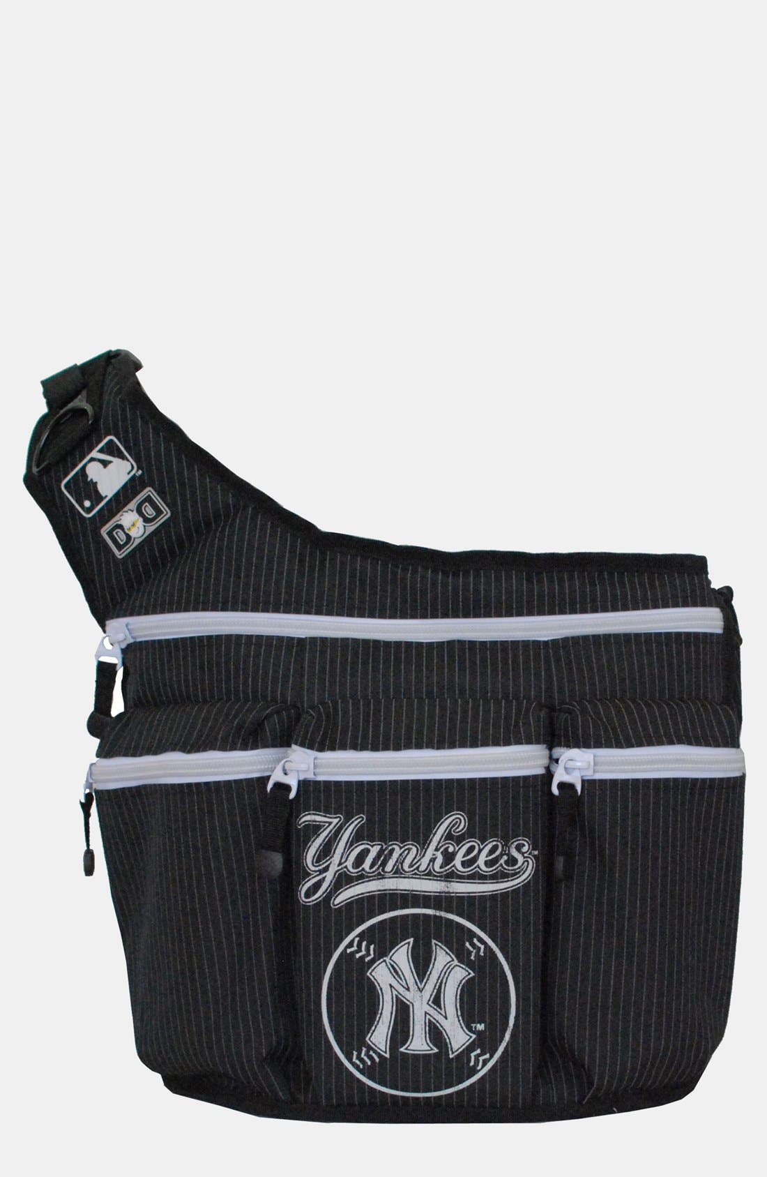 Main Image - Diaper Dude 'New York Yankees' Messenger Diaper Bag