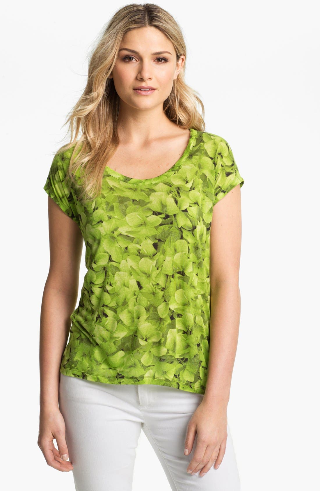 Alternate Image 1 Selected - MICHAEL Michael Kors Floral Print Top (Petite)