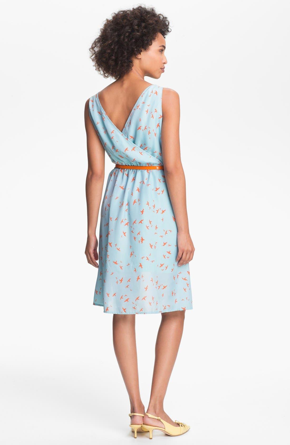 Alternate Image 2  - Olive & Oak Bird Print High/Low Dress