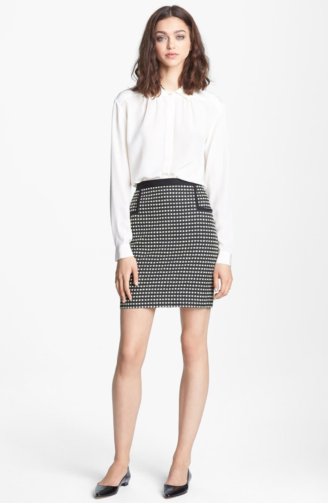Alternate Image 2  - Miss Wu Crêpe de Chine Blouse (Nordstrom Exclusive)
