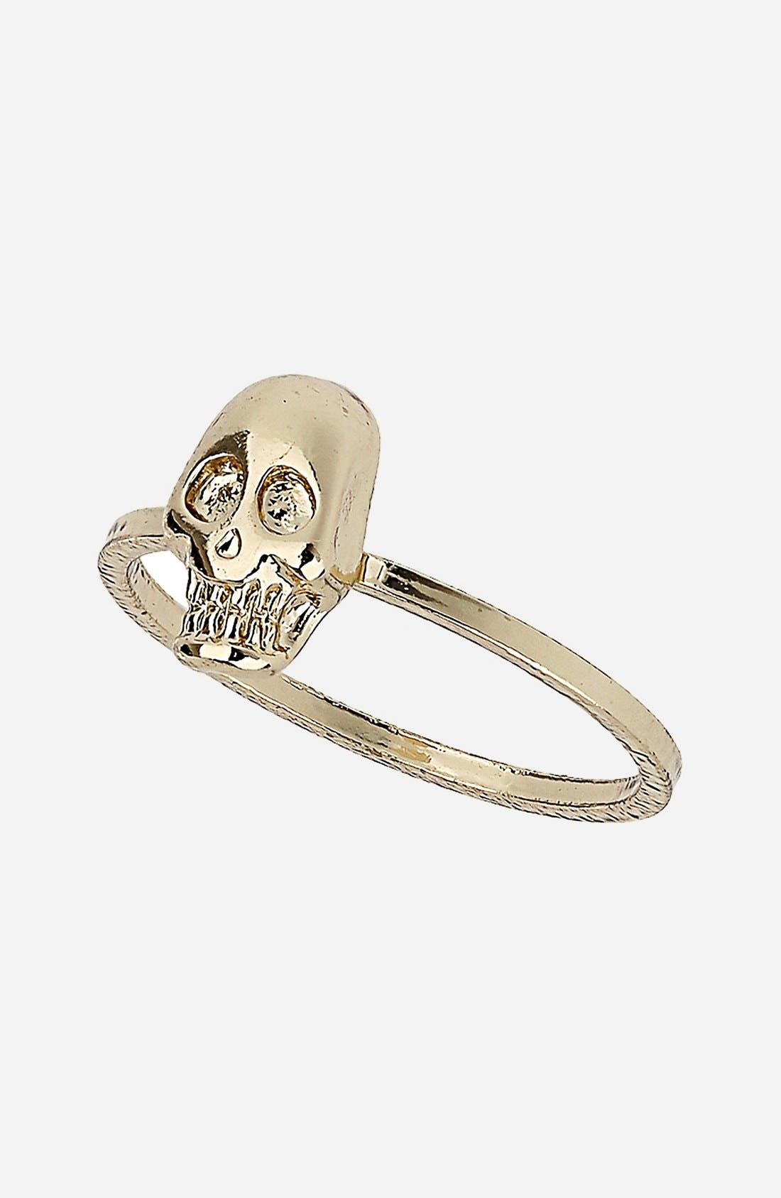 Main Image - Topshop Skull Midi Ring