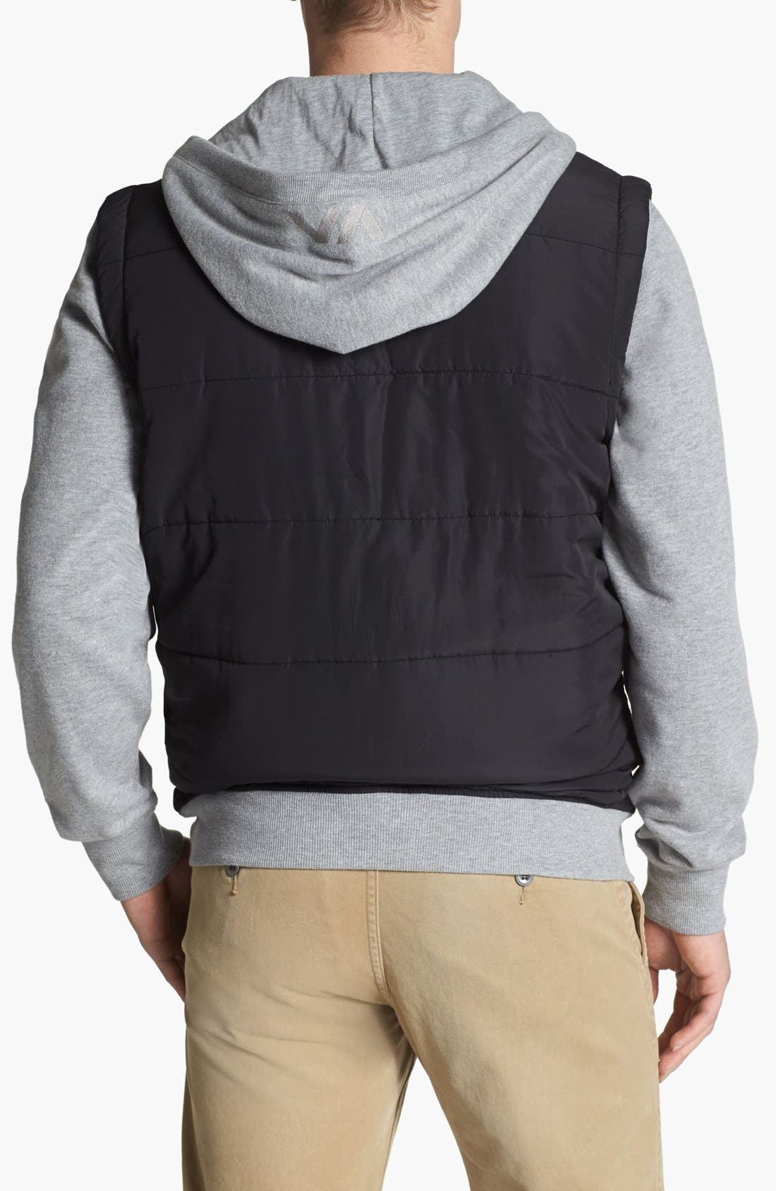Alternate Image 2  - RVCA Puffer Hooded Jacket
