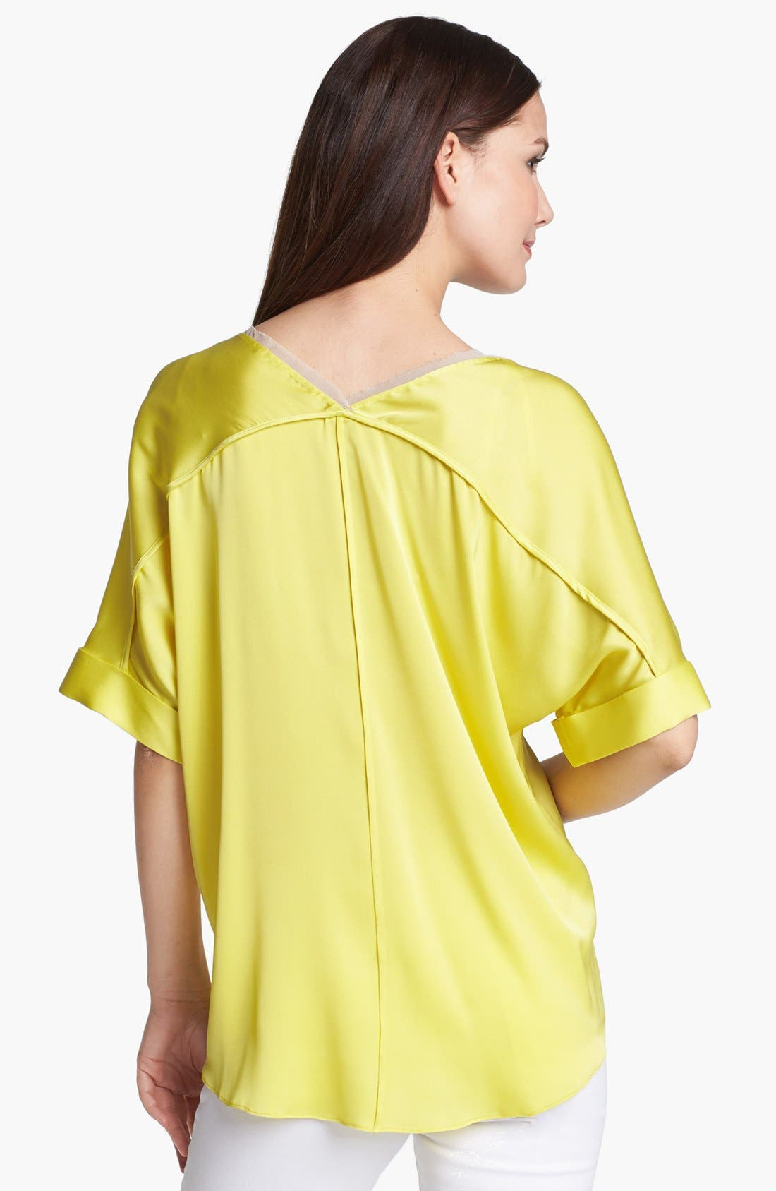 Alternate Image 2  - Elie Tahari 'Charity' Stretch Silk Blouse