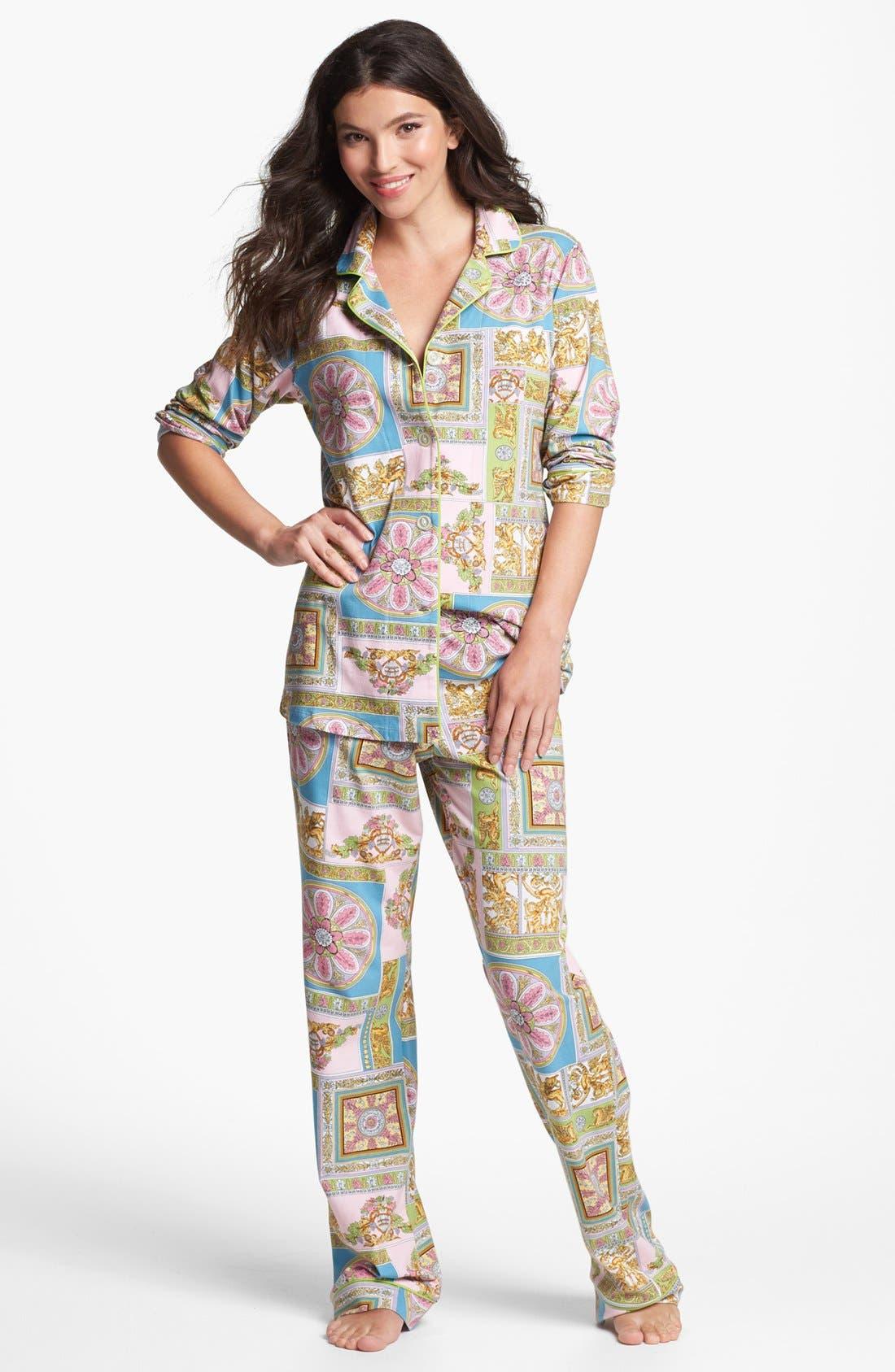 Alternate Image 1 Selected - BedHead Print Knit Pajamas