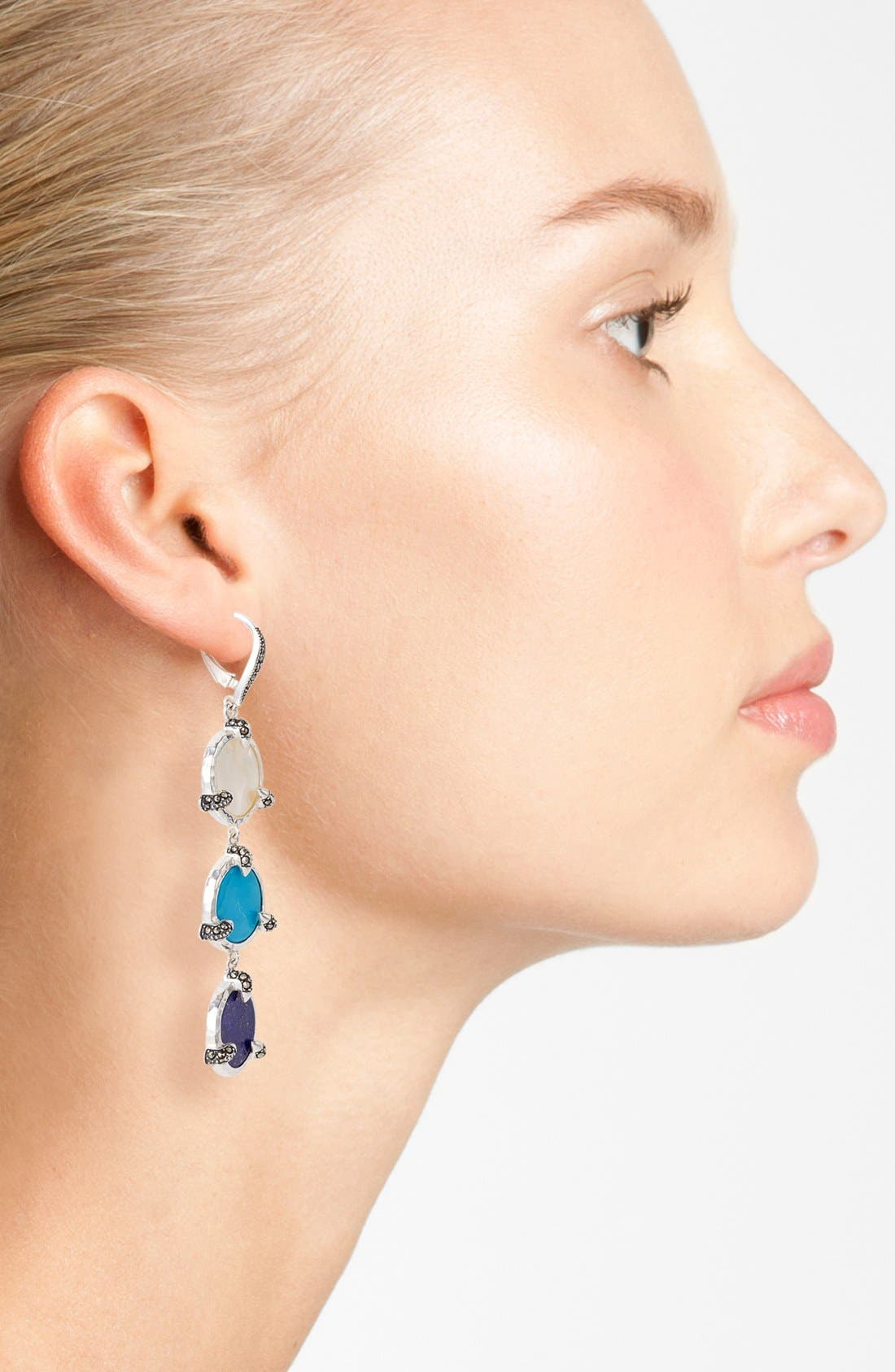 Alternate Image 2  - Judith Jack 'Coin' Linear Earrings