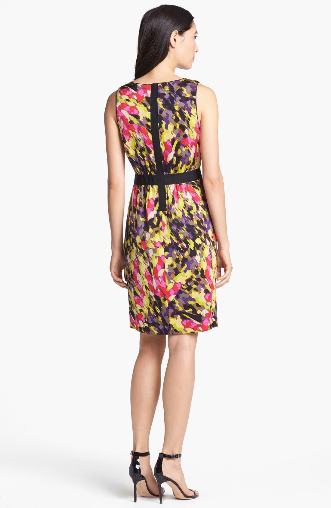 Alternate Image 2  - Classiques Entier® Print Stretch Sheath Silk Dress
