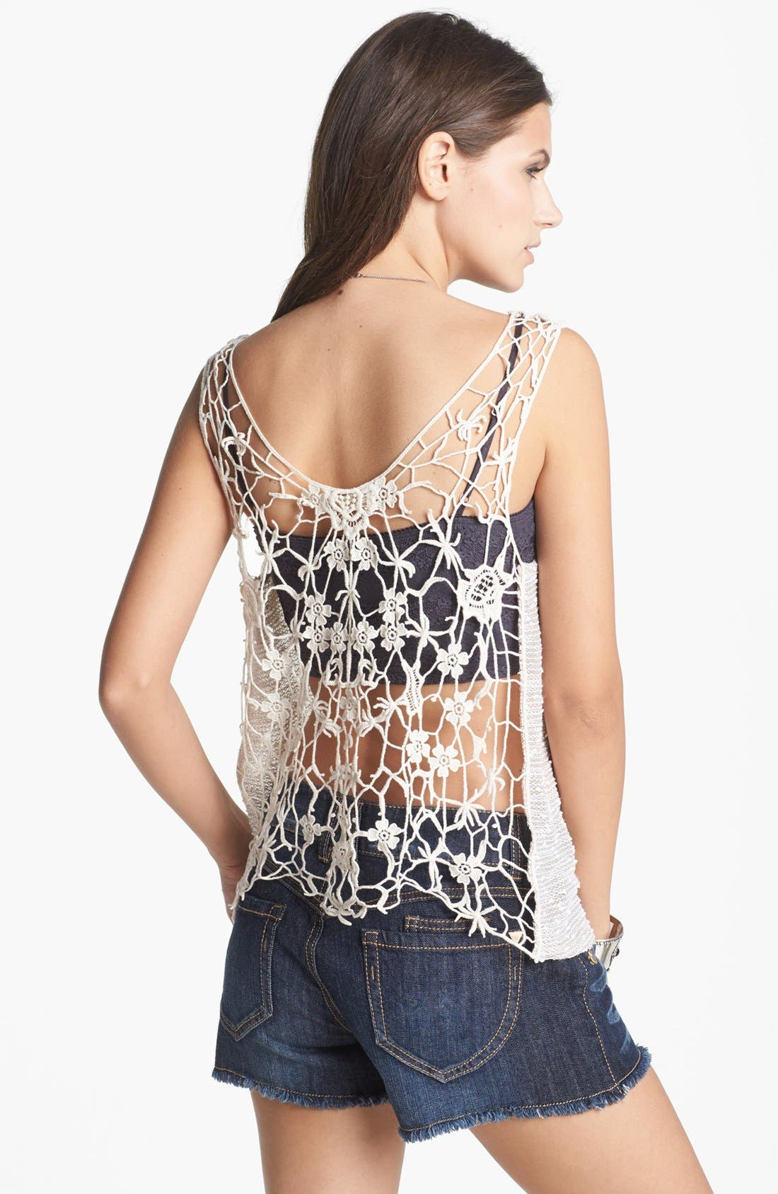 Main Image - Elodie Crochet Back Tank (Juniors)