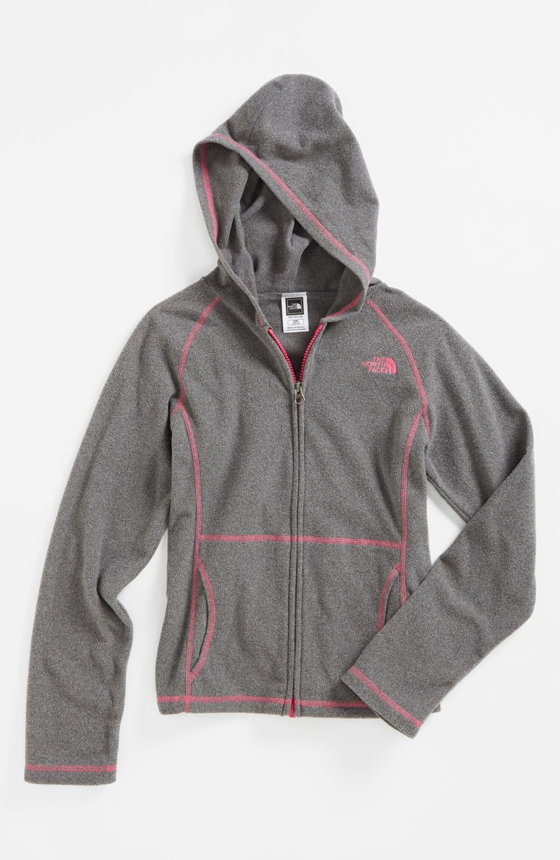 Main Image - The North Face 'Glacier' Full Zip Hoodie (Little Girls & Big Girls)