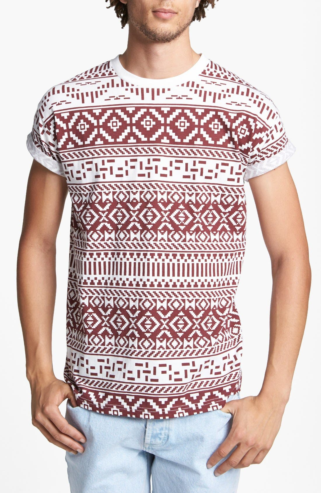 Alternate Image 1 Selected - Topman Pattern Print T-Shirt