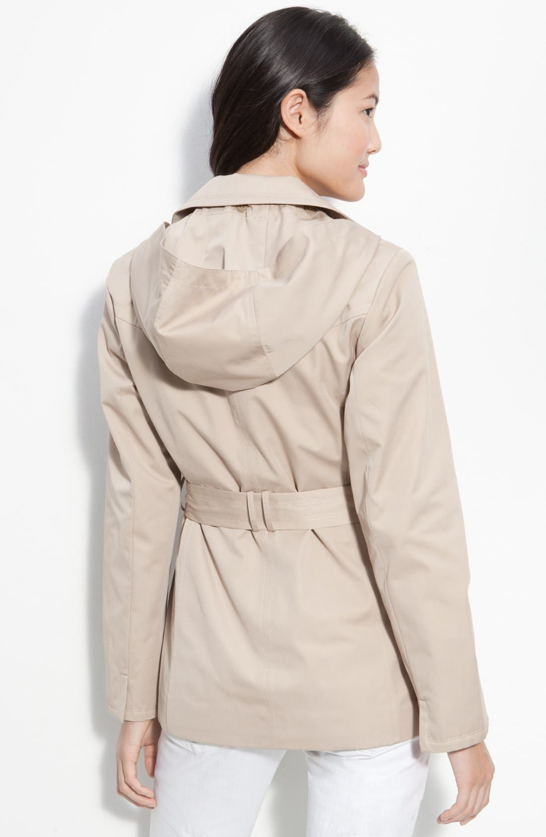 Alternate Image 3  - Ellen Tracy Single Breasted Trench Coat (Nordstrom Exclusive)