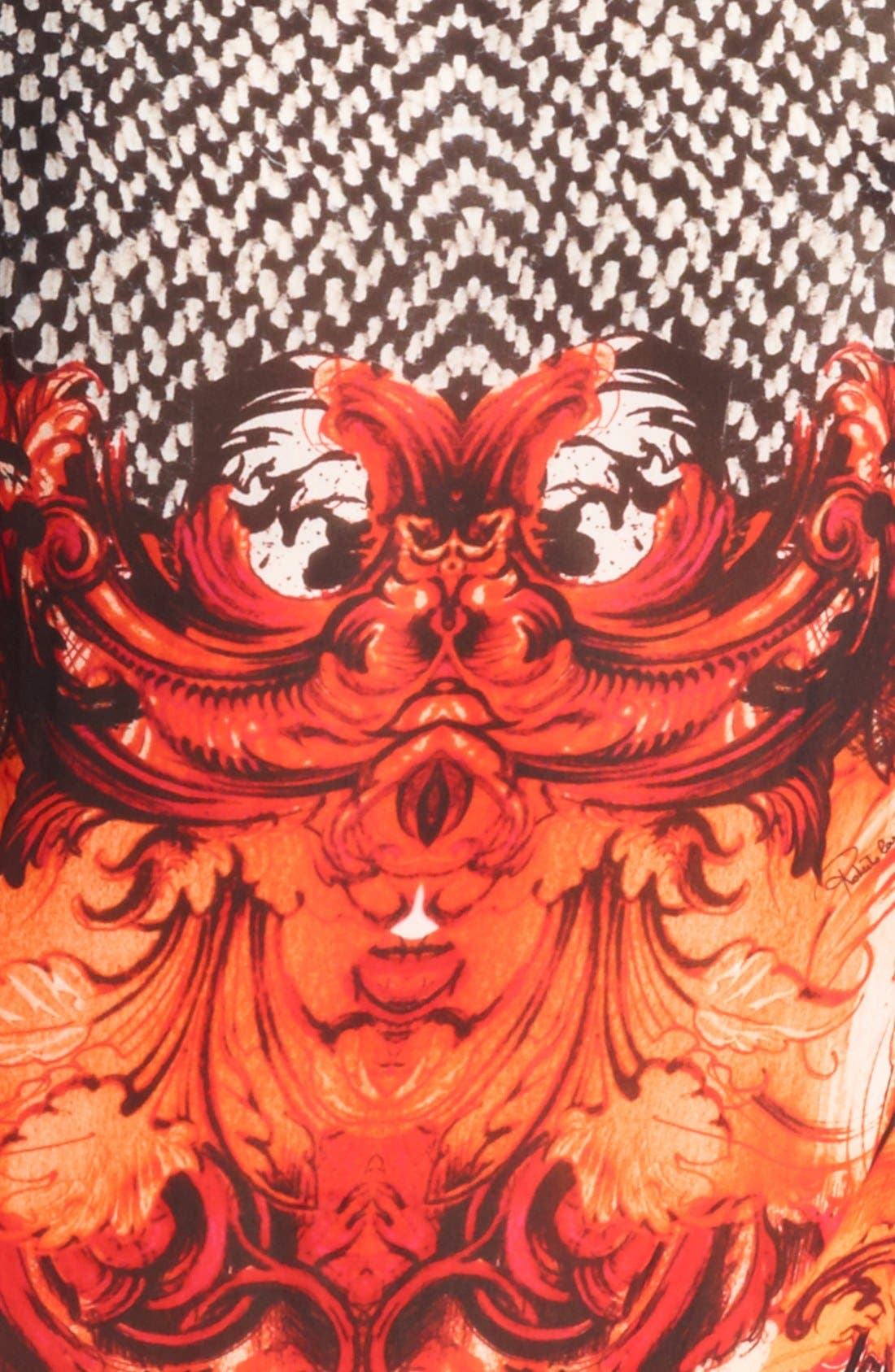 Alternate Image 3  - Roberto Cavalli 'Tilda Print' Belted Chiffon Caftan